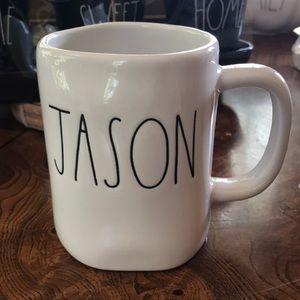 "Rae Dunn ""Jason"" Name  Mug  NWT"